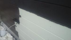 桜咲く外壁中塗り20130705