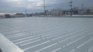 20131007折板屋根施工完了