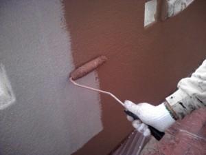 20131130中原邸外壁中塗り状況