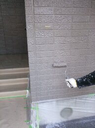 外壁上塗り状況8821
