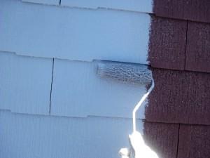 20131203中原邸屋根下塗り状況