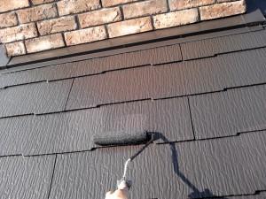 20130112屋根上塗り状況