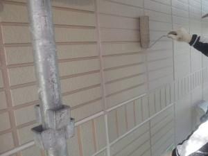 20141219アパート外壁中塗り