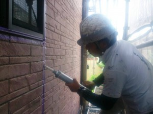 平井2015年7月3日外壁シーデング打ち状況