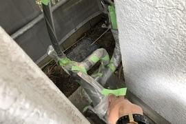 熊本植木住宅・塗装工事・外壁養生下地処理の施工前画像
