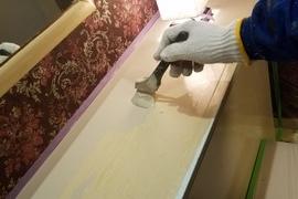 熊本ホテル・水性シリコン使用、内部塗装工事の施工前画像