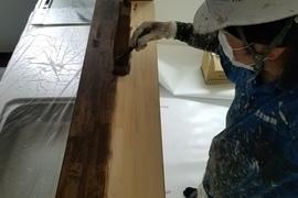 熊本龍田新築・内部木部着色塗装完了しました!!の施工前画像