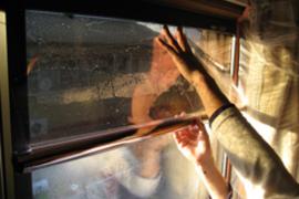 熊本 マンション窓フィルム施工例の施工前画像