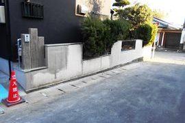 熊本地震被害修繕工事(土間・外壁・内壁・塀塗装仕上げ)の施工前画像