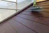 厚膜下塗り材使用 急勾配コロニアル屋根塗装工事