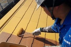 熊本八分字住宅・水性シリコン使用!コロニアル屋根塗装工事の施工前画像