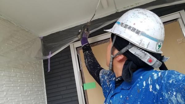 熊本玉名郡和水・新築住宅軒天井塗装工事完了しました!