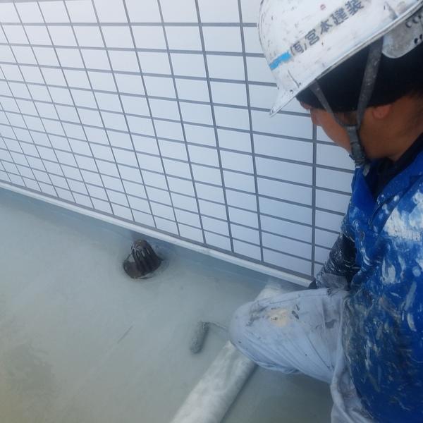 熊本健軍 防水・ベランダ土間ウレタン防水工事