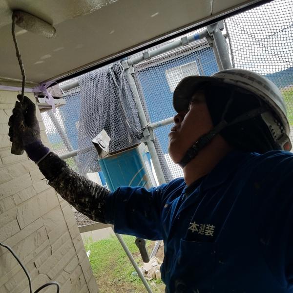 熊本県西原・新築軒天井塗装工事完了しました!!