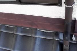 屋根雨切板金塗装 熊本市住宅の施工前画像