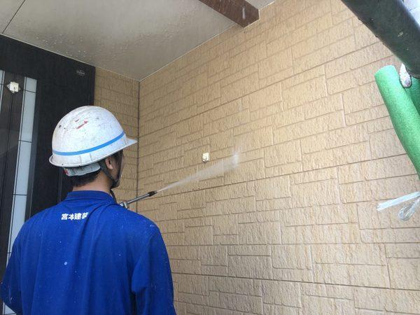 熊本上益城郡甲佐町住宅塗装・塗装前外壁高圧洗浄工事