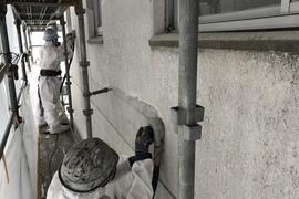 外壁塗膜剥離(電動工具)・環境事業部の施工前画像