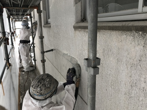 外壁塗膜剥離(電動工具)・環境事業部