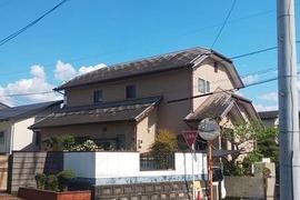 地震被害住宅 外壁屋根塗装工事 益城町の施工前画像