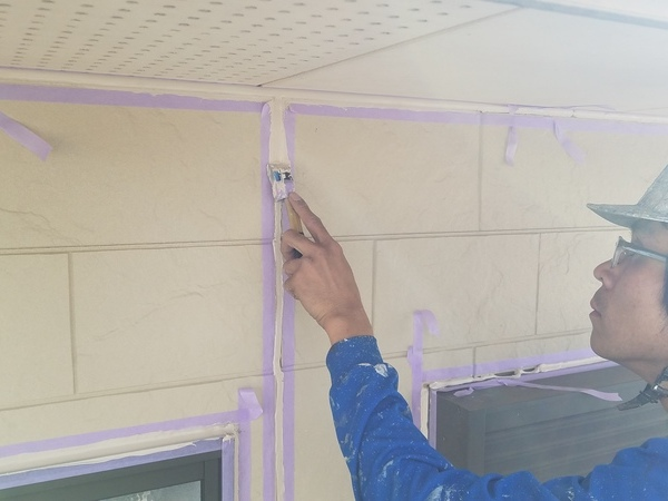 熊本・合志須屋住宅塗装・外壁シーリング工事開始しました!!