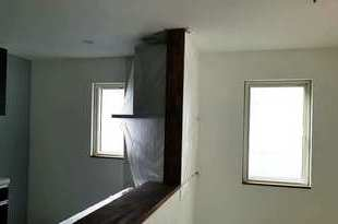 カウンターキッチン木部塗装の施工後画像