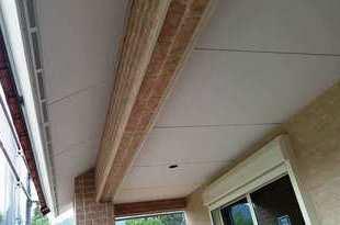 新築軒天井/広小舞塗装工事 パテ処理含むの施工後画像