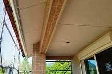 新築軒天井/広小舞塗装工事 パテ処理含む