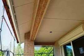 新築軒天井/広小舞塗装工事 パテ処理含むの施工前画像