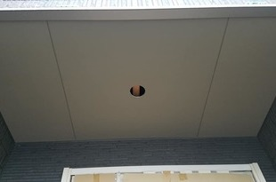 熊本住宅新築軒天井塗装工事の施工後画像