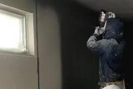 外壁ベルアート吹きつけ塗装仕上げ の施工前画像
