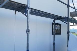 新築外壁 弾性吹付塗装 の施工後画像