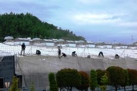 熊本工場スレート屋根遮断熱塗装 総勢20名で頑張りました。の施工前画像