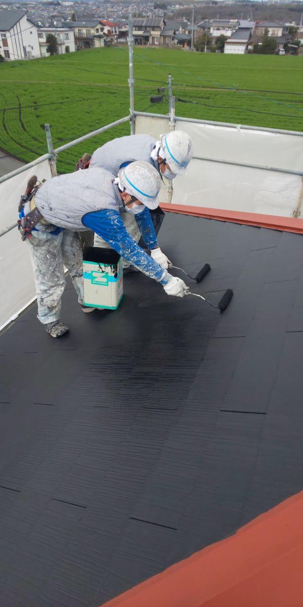 熊本市東区佐土原・住宅屋根シリコン塗装工事
