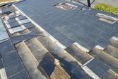 地震被害 屋根葺き替え工事