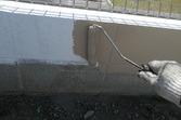 新築 塀塗装 目地残しスチップル工法塗装工事