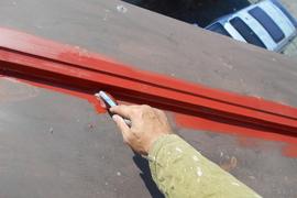 熊本市西区住宅 瓦棒屋根塗装工事 の施工前画像
