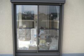 ウィンドウフィルム施工 熊本マンション窓の施工前画像