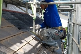 熊本益城住宅・コロニアル屋根塗装工事!!の施工前画像