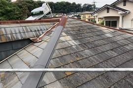 コロニアル(スレート)屋根塗装工事 熊本住宅の施工前画像