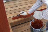 ウッドデッキ既存塗膜剥離後再塗装工事 TOYOTA