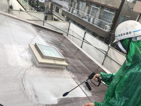 熊本渡鹿住宅塗装・塗装前高圧洗浄及び外壁タイルバイオ洗剤清掃工事