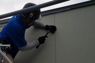 外壁サイディング張替え 張替え後塗装工事まで宮本建装が行いますの施工後画像