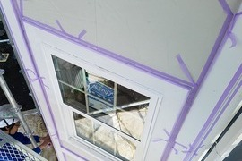 新築外壁化粧枠(モール)シール&塗装工事 大津住宅の施工前画像