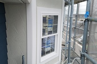 新築外壁化粧枠(モール)シール&塗装工事 大津住宅の施工後画像