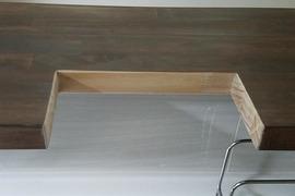 カウンター木部加工箇所塗装 龍田住宅の施工前画像