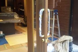 扉塗装 イメージチェンジ 熊本市店舗の施工前画像