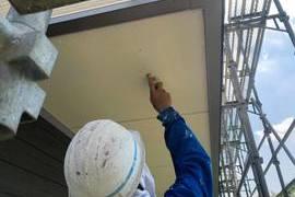 玉名市 新築軒天井塗装工事の施工前画像