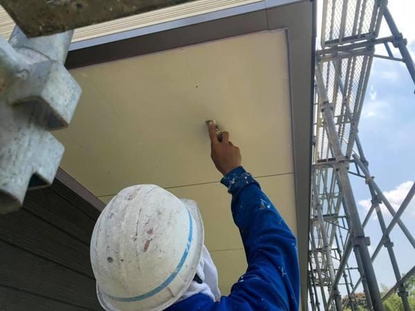 玉名市 新築軒天井塗装工事