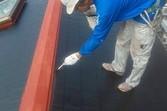熊本市中央区 コロニアル(スレート)屋根、既存塗膜剥離後塗装
