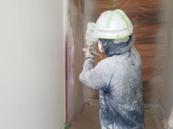 熊本松橋町・新築住宅塗装・外壁上吹き完了しました!!
